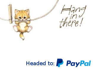 Hang in there - headed for PayPal