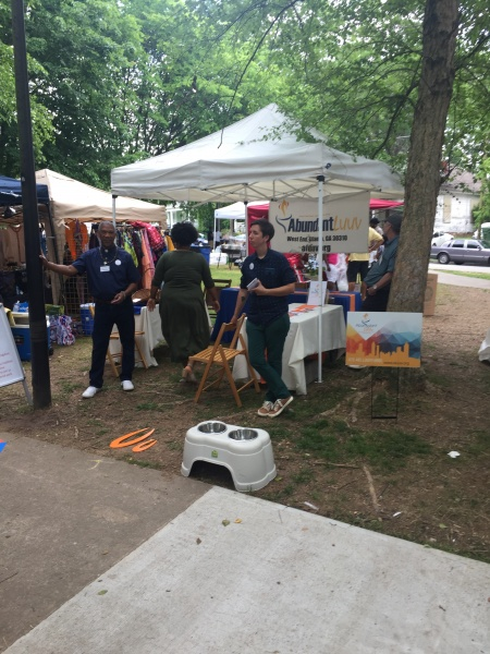 Abundant Love booth at the Malcolm X Festival 2018