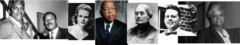 Bayarnd Rustin, Rev Martin Luther King Jr, Viola Gregg Liuzzo. John Lewis, Susan B. Anthony, Rev James Reeb, Ida B. Wells