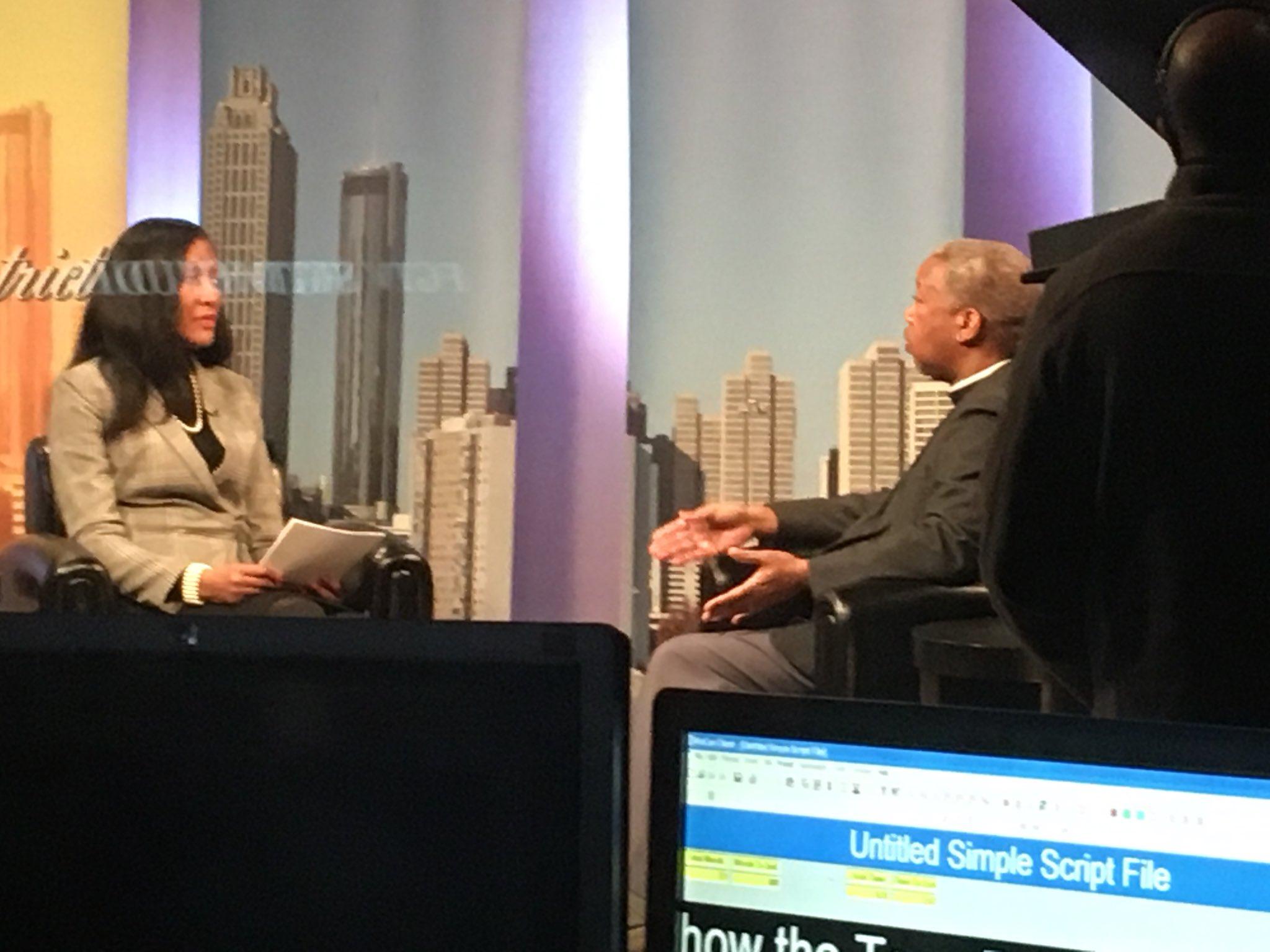 Rev Duncan Teague being interviewed, January 2019